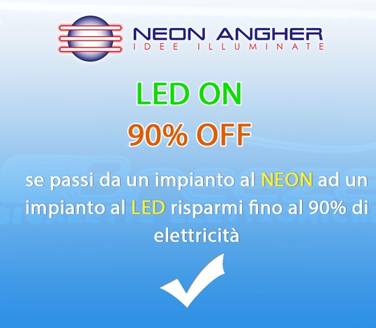Passa all'insegna al led